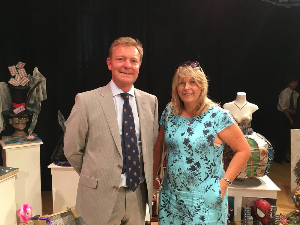 Craig Mackinlay MP with Art Technician, Dawn Harrison