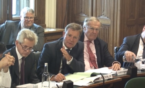 Craig at a sitting of the Exiting the EU Select Committee