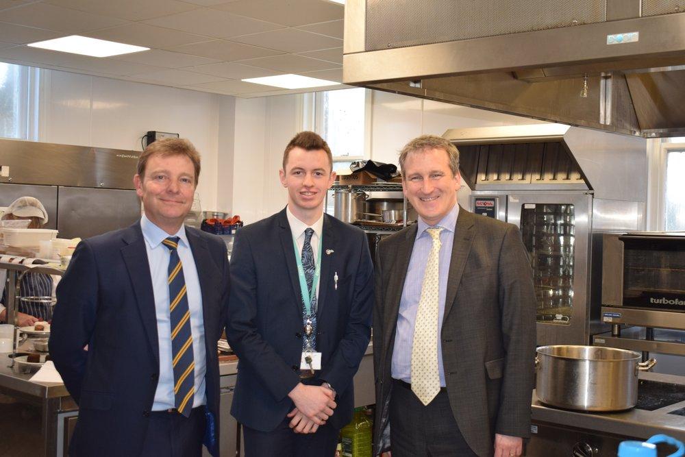 Craig Mackinlay MP, Seb Anning and Rt Hon Damian Hinds MP