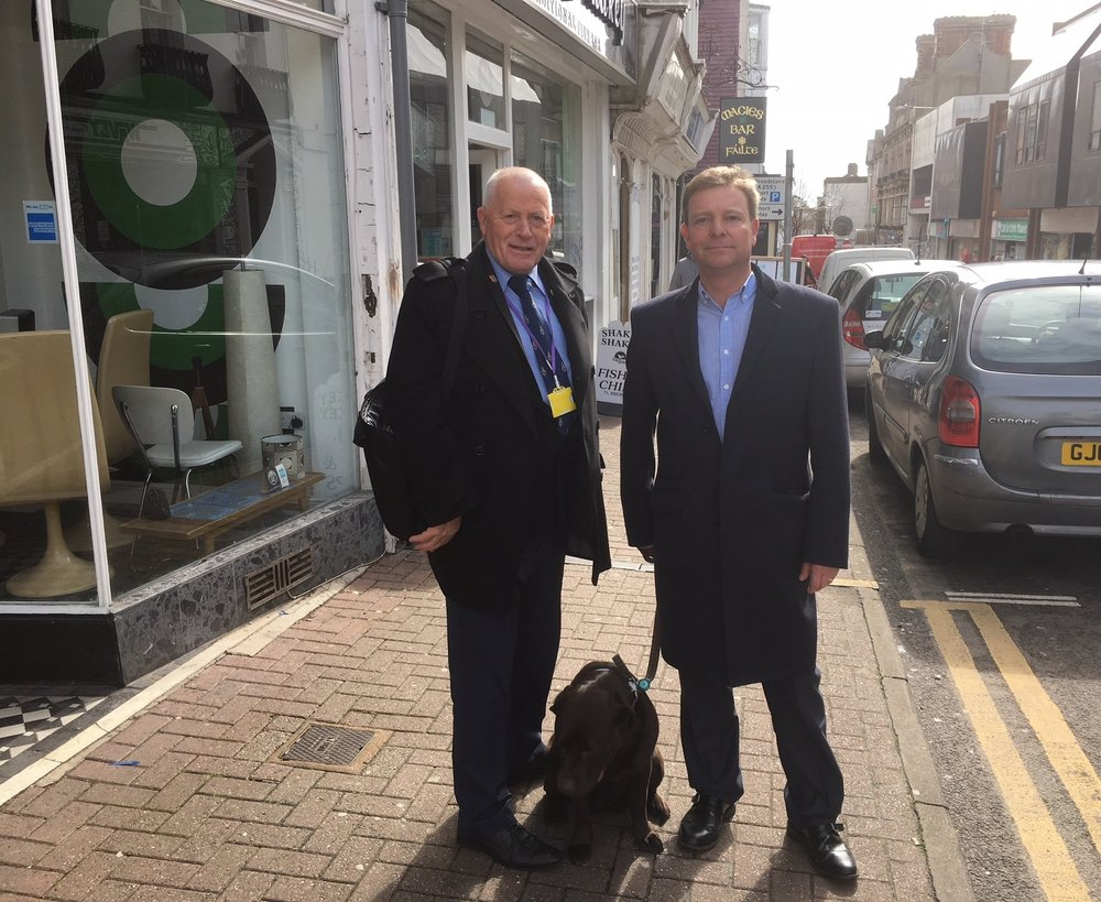Mayor of Ramsgate, Cllr Trevor Shonk, and Craig Mackinlay MP