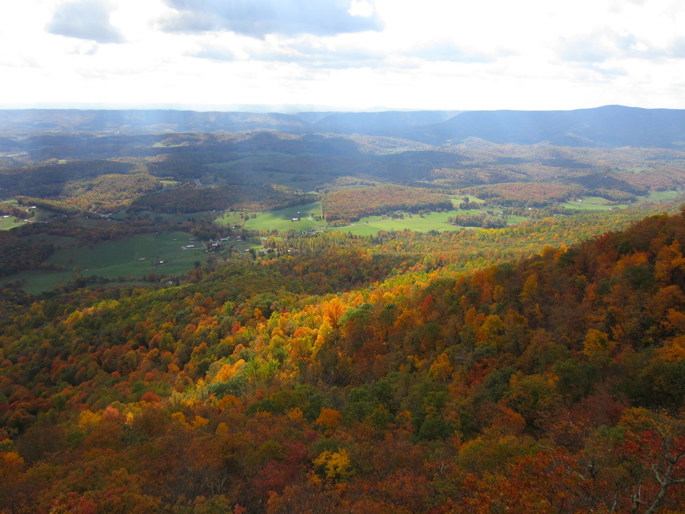 Spectacular fall colors in Virginia (near Blacksburg).