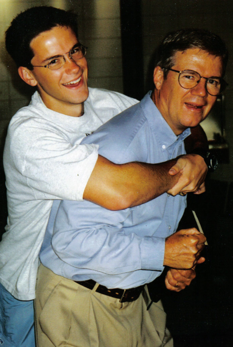 This picture was taken of dad and I sometime in 1999, when I was 17.
