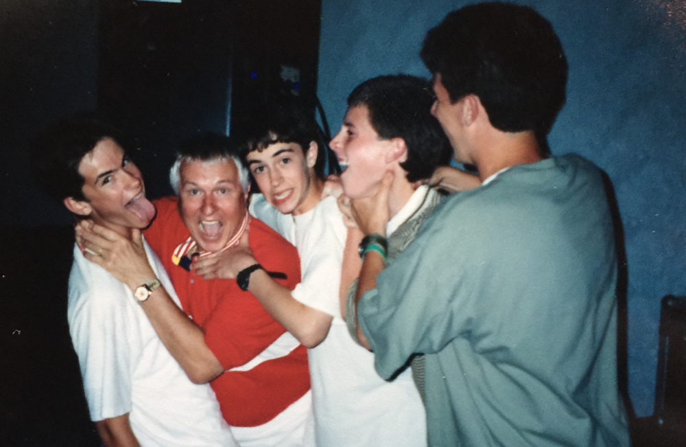 High school boys do weird things. Exhibit A: Here we are pretending to choke each other. And I see we roped internationally acclaimed author and speaker Josh McDowell (red shirt) into the weirdness. I believe this was taken at a big youth conference down in Panama City, Fla.