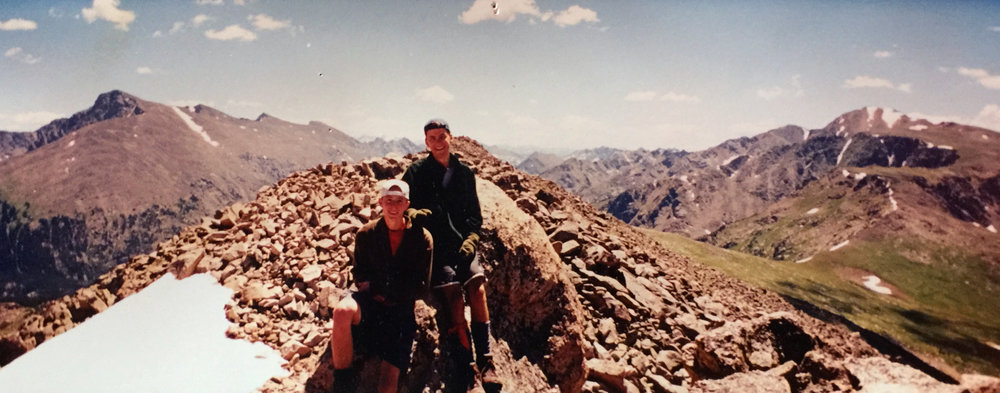 Here I am with my best friend, Tom. That's me on the right. I think maybe this was about 14k feet? Can't remember.