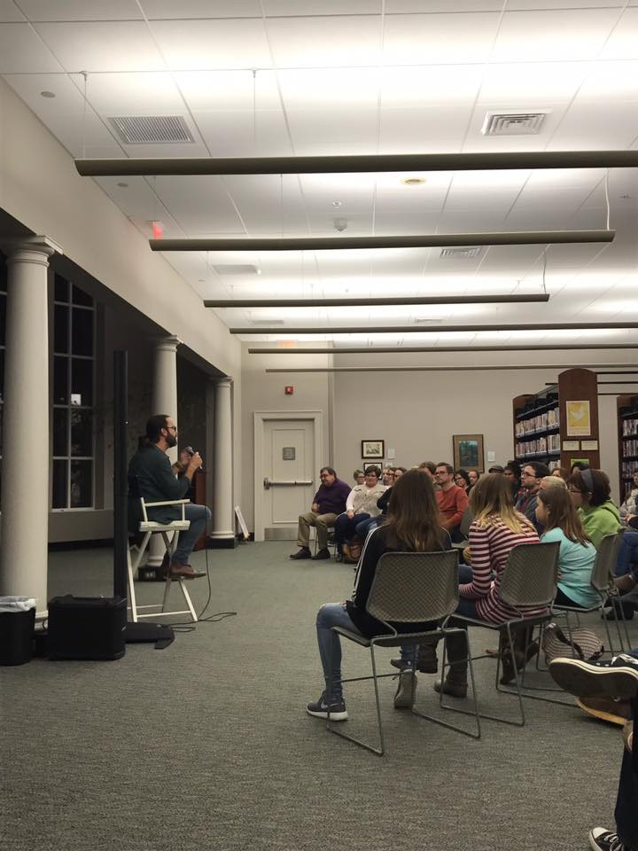 After Chicago, we trekked down I-65 to my hometown of Florence, Alabama. First speaking gig was at the Florence Library.