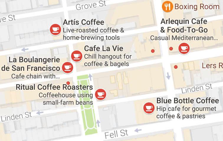 coffee shops in hayes valley