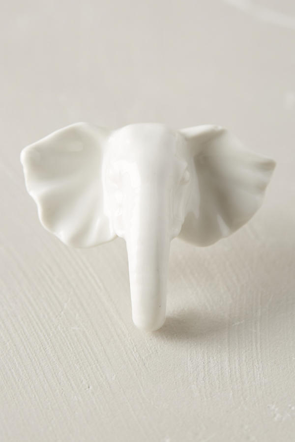 Anthropologie Elephant Ceramic Knob.jpeg