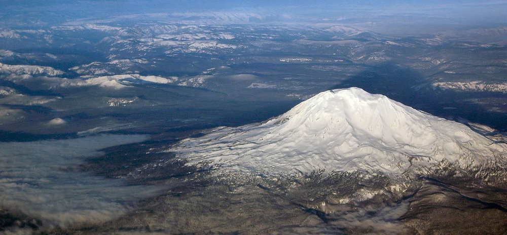 Mt. Adams from 20,000 ft. Image by Medicaster40, via  Wikipedia