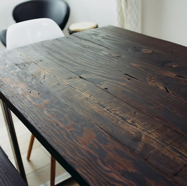 Instagram Cold Grain Studio - Reclaimed wood coffee table los angeles