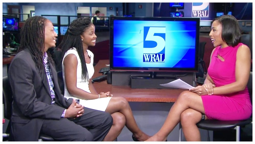 Seen here from left to right: Co-Founders CJ Morgan, III, Nicholé Morgan and WRAL host Lena Tillet