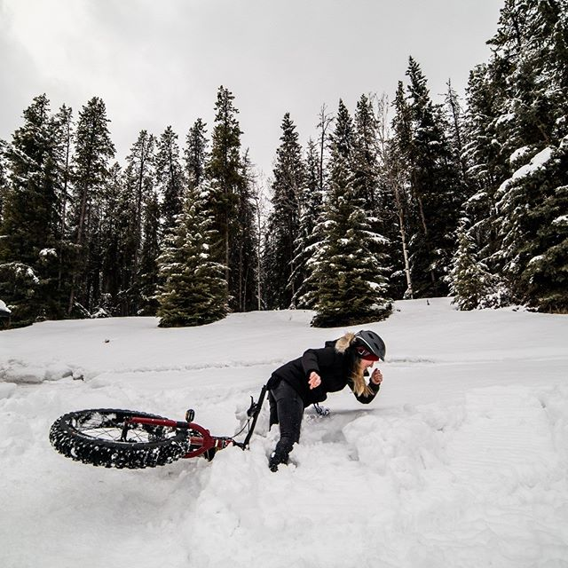 At least the landing is soft. #attaelevate might be the most fun conference in existence. Had a great time photographing and shooting video for #atta in #banff  #photography #photooftheday #fatbike #crash #snowday #powderday #banffnationalpark #alberta #travelalberta #adventurephotography #adventure #liverad #adventureeveryday