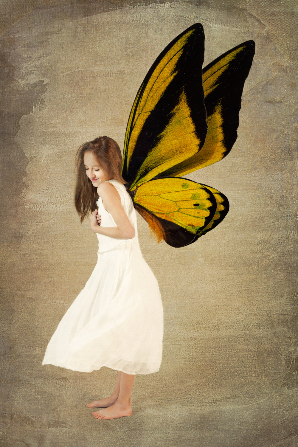 illustrative portraits for your daughter - butterfly - transformation