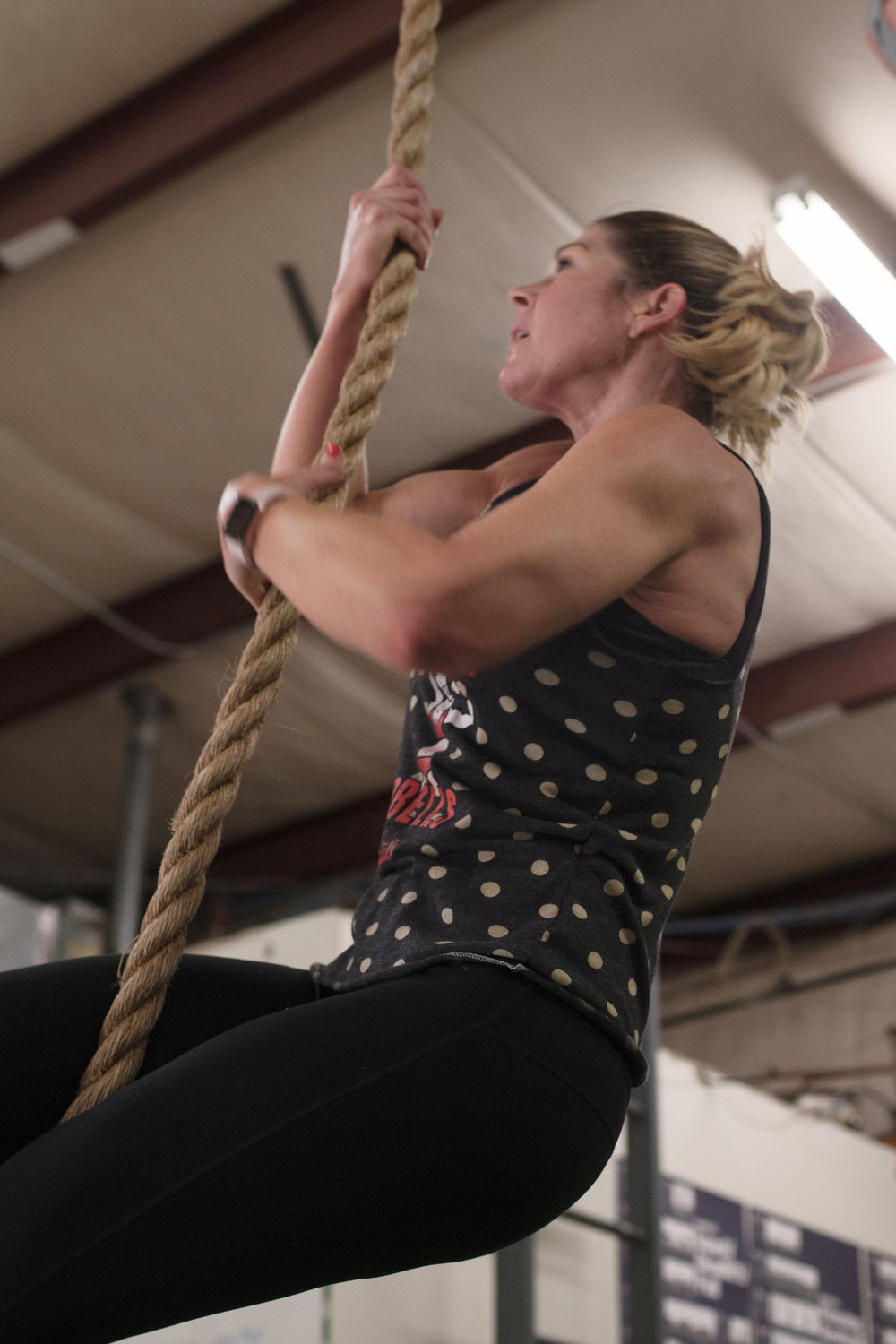 rope climbs - gains - hustle hard