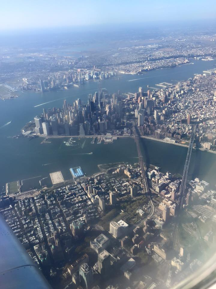 Arriving in New York, always a welcome view