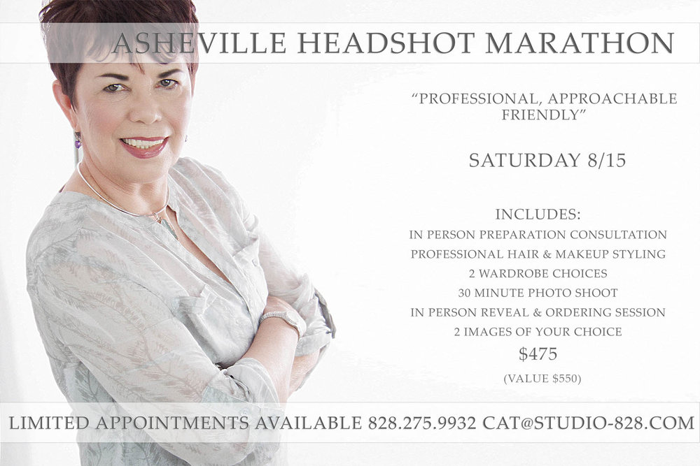 PROFESSIONAL HEADSHOTS IN ASHEVILLE WITH STUDIO 828 PHOTOGRAPHY. DON'T SETTLE FOR YOUR PERSONAL BRANDING.