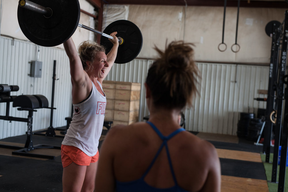 women in Crossfit - girls who lift - Asheville small business