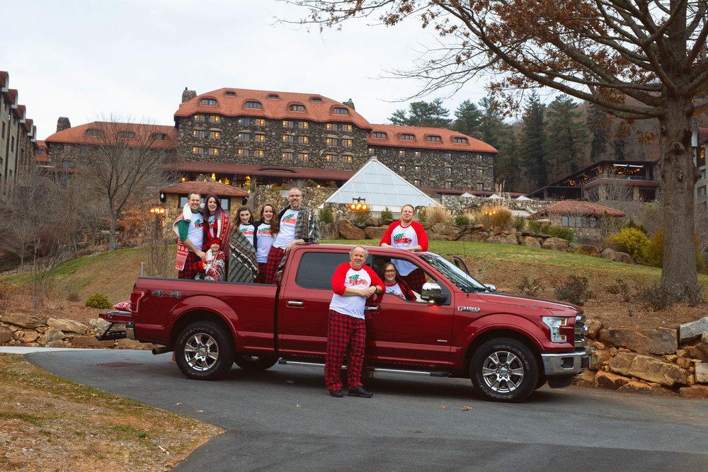 family session - red truck - Asheville nc - grove park inn