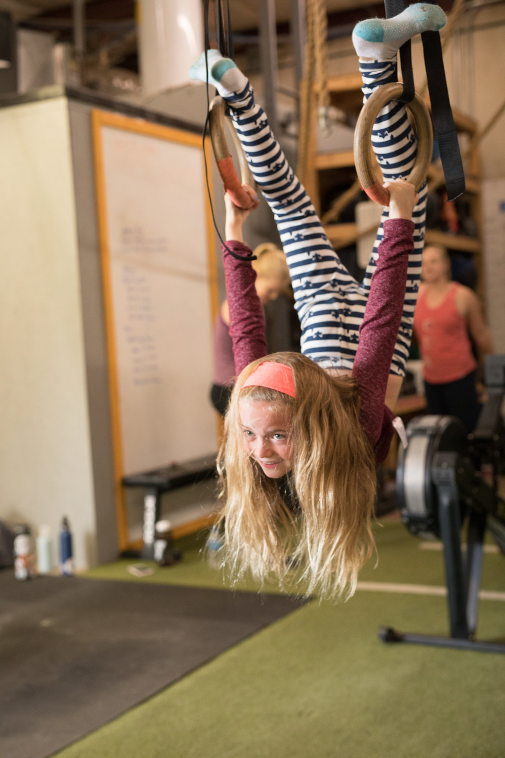 kids in Crossfit - healthy from the start - rings - gymnastics - Asheville gym