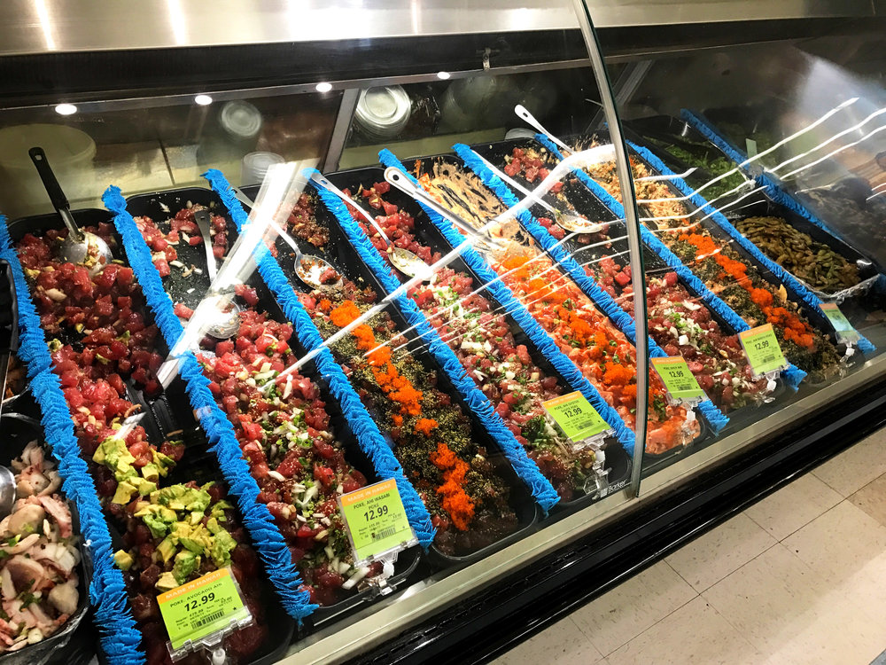 Poke supermarket selection, photo courtesy of Troy Guard