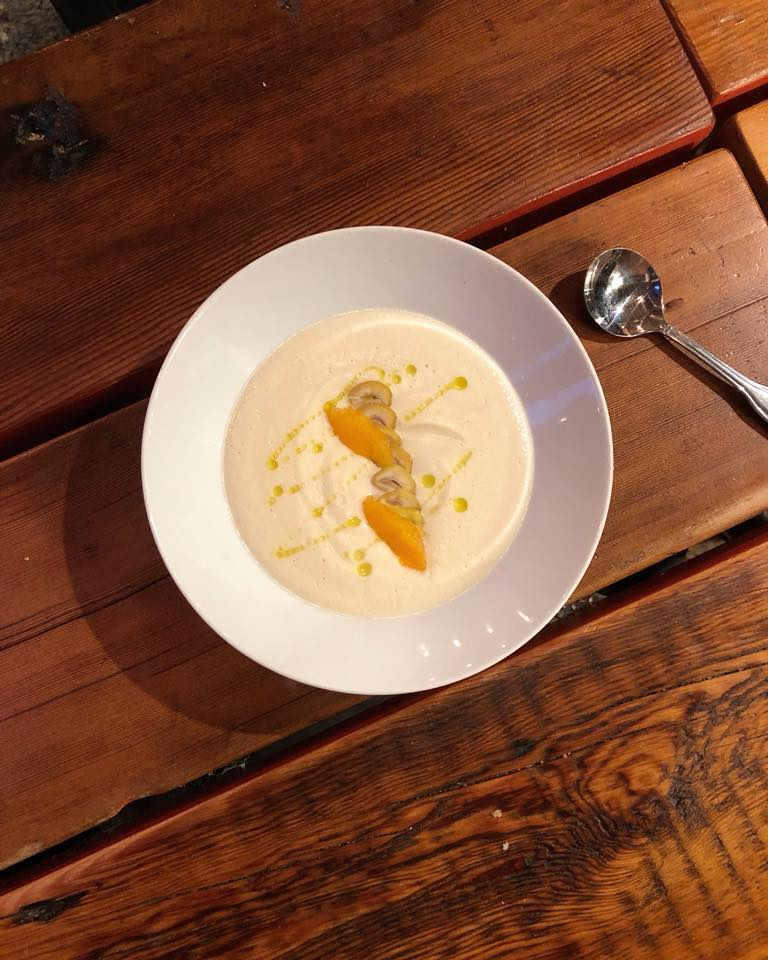 Parsnip Chestnut Soup from Brunoise at Smallman Gally