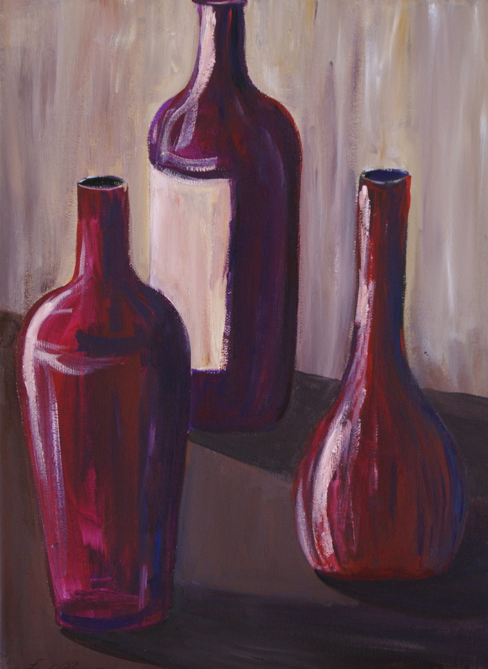 #491 Acrylic Three Bottles.JPG