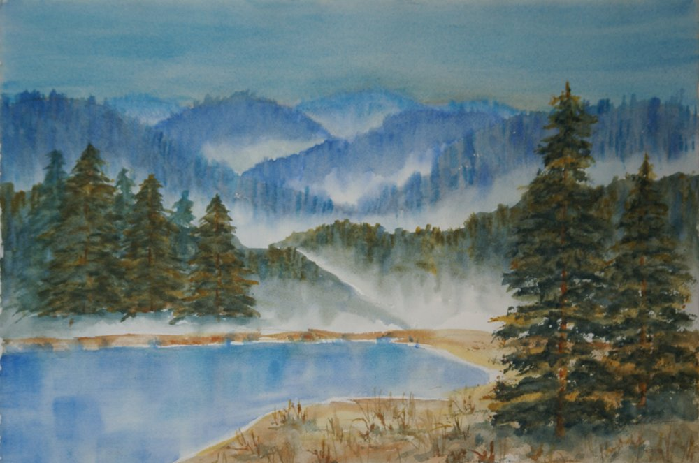 """Foggy Morning"" $695 framed"