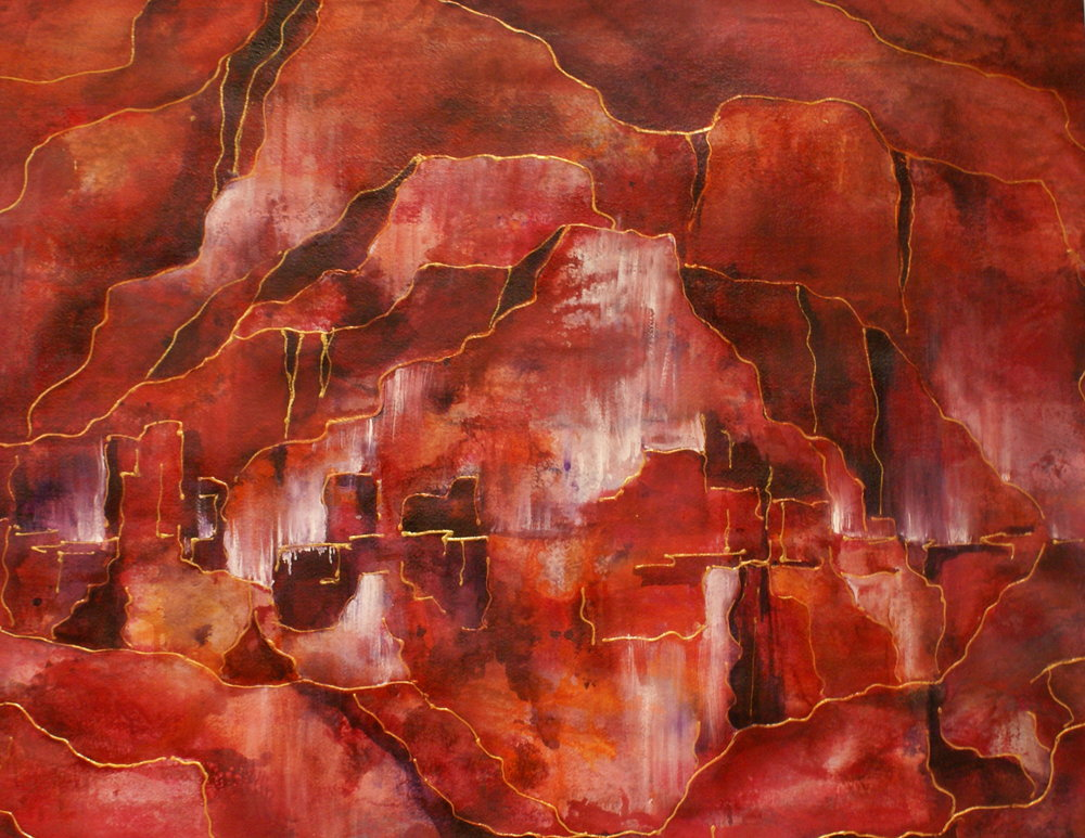 "#111 ""Canyons in Red"" $450"