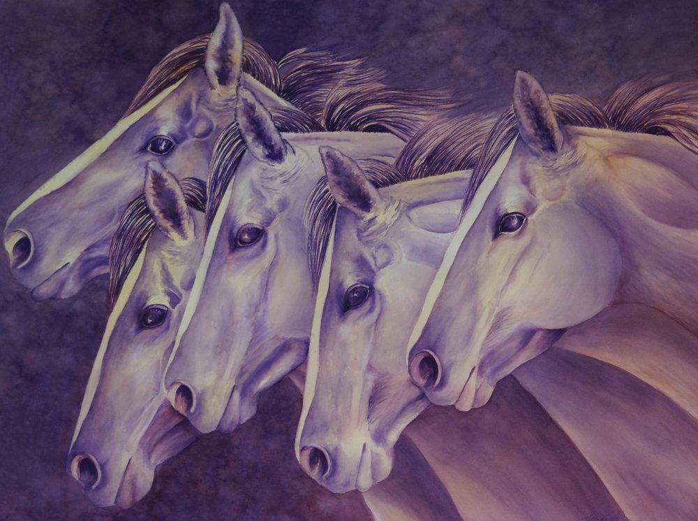 """#10 """"Running Horses"""" $1595"""