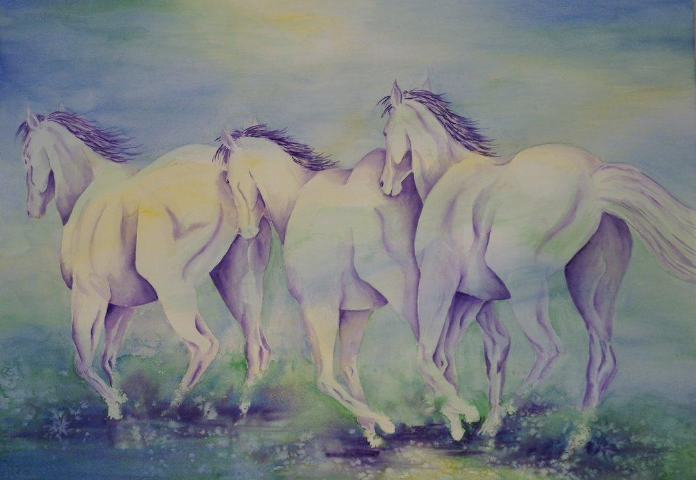 """#100 """"Trotting Horses"""""""