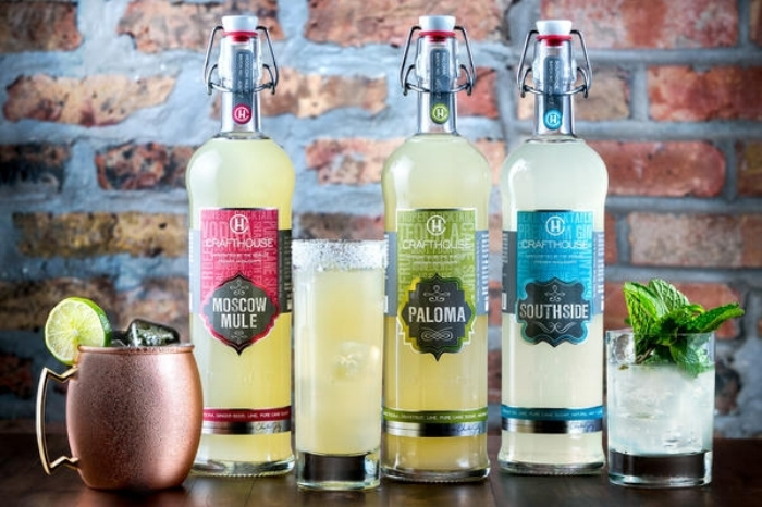 The CRAFTHOUSE line of ready-mixed premium cocktails.