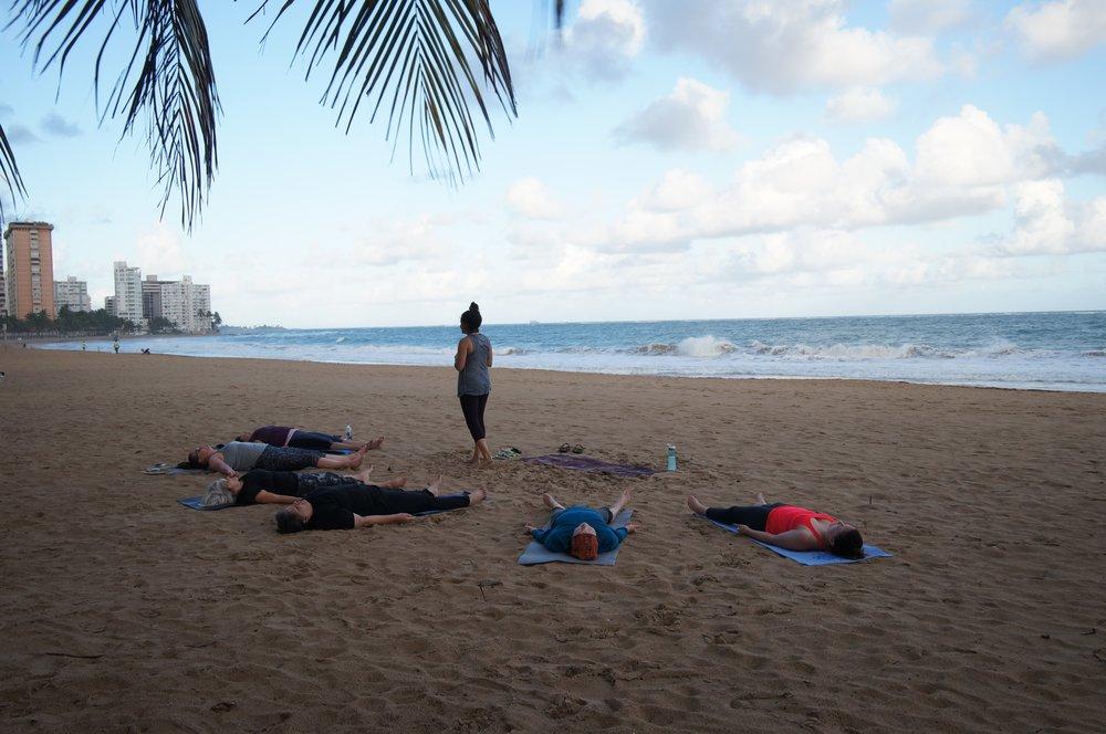 Monday Morning Wakeup Yoga class .JPG