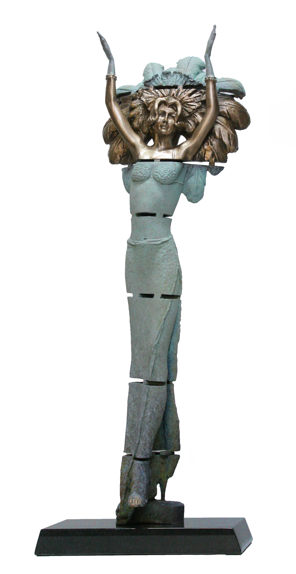 Carlotta Marquette 85 cms high Bronze on Granite