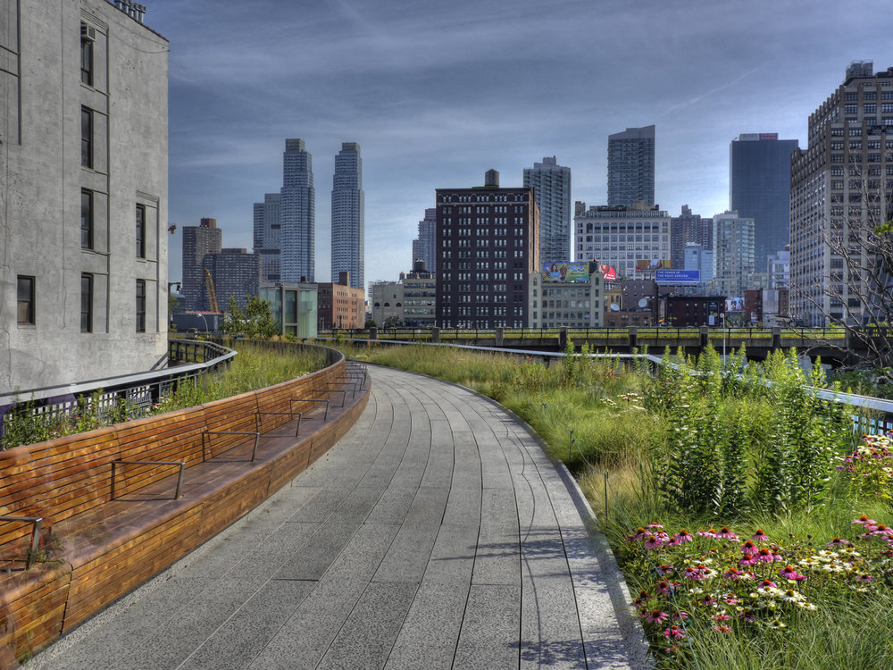 The Chelsea Highline is just one example of a park made in an otherwise unused plot of land. Source: flicker user Wasabi Bob