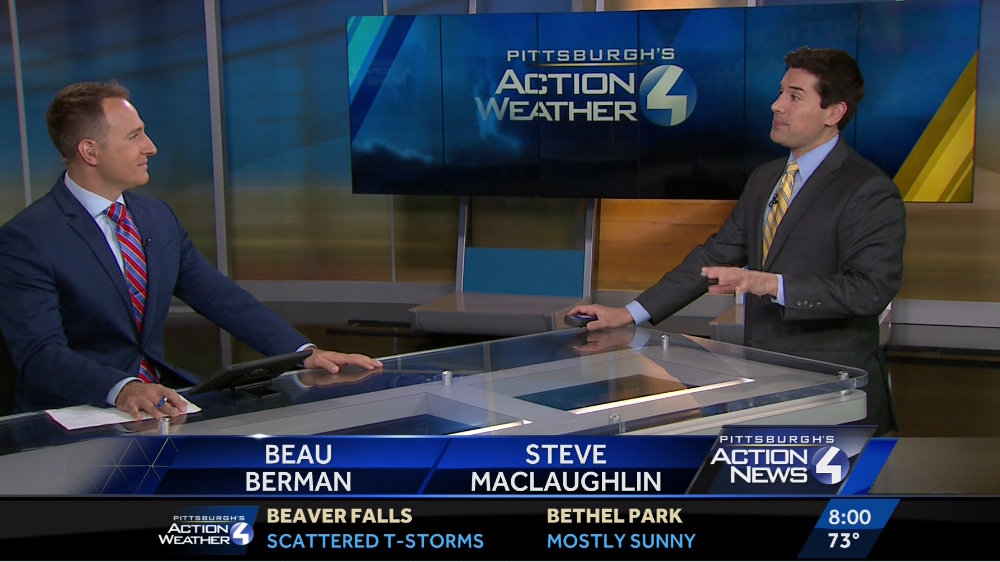 Anchoring with meteorologist Steve McLaughlin