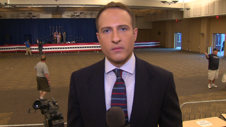 Reporting at Donald Trump rally in Altoona, Pa.