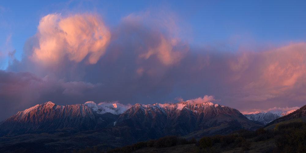 Raggeds Wilderness Fall Alpenglow