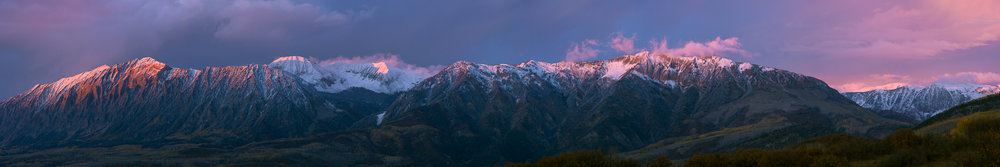 Raggeds Wilderness Sunset Panorama