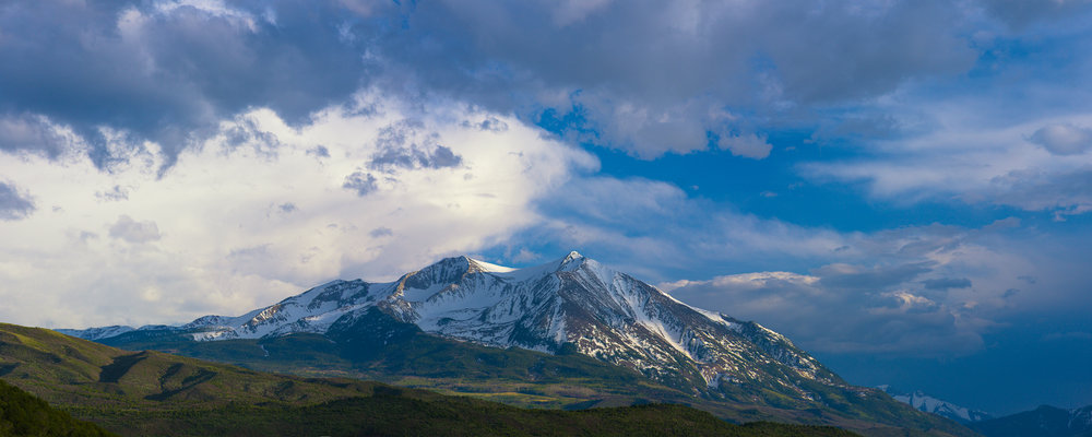 Spring Storm Moving Off Mt Sopris