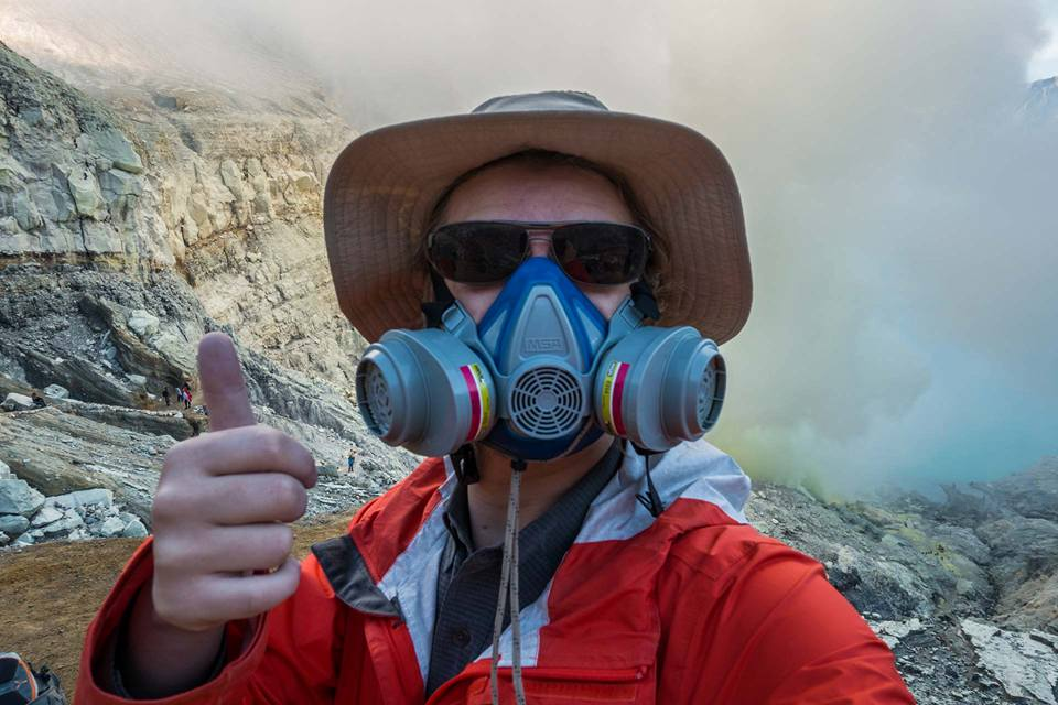 Me at Igen volcanic crater in Indonesia - July 2016