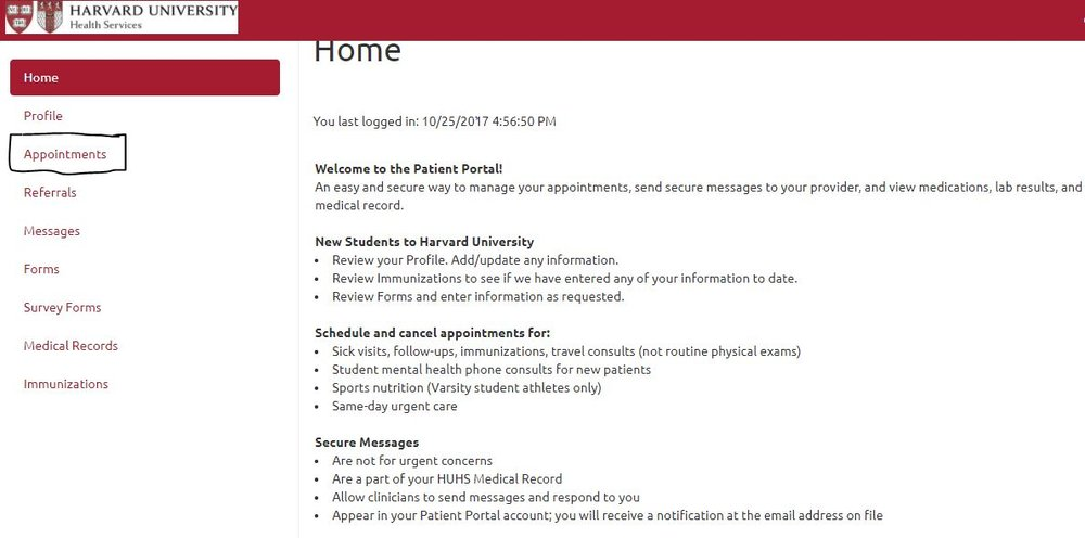 patient portal homepage.JPG