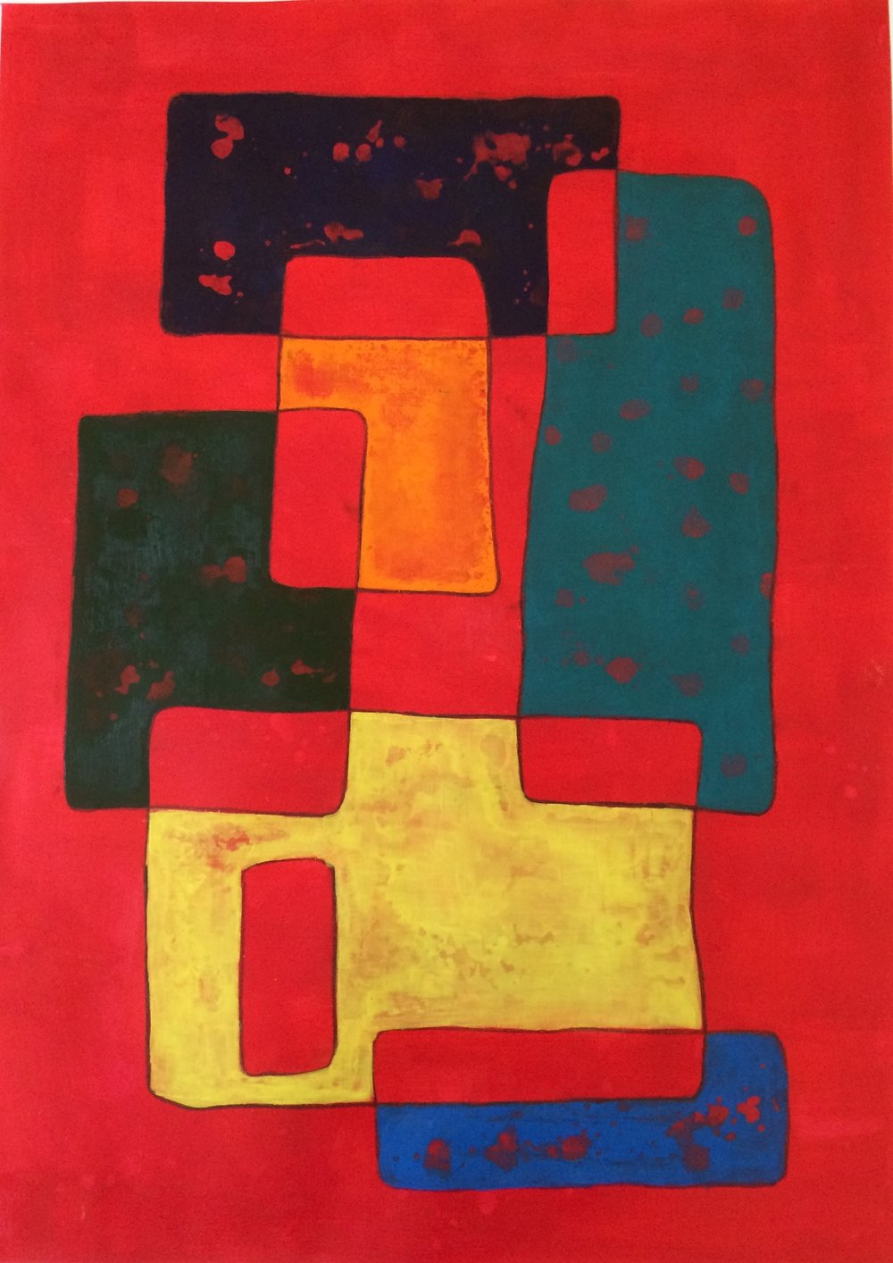 Megalith   Acrylic on Watercolor Paper 30X23in (sold)