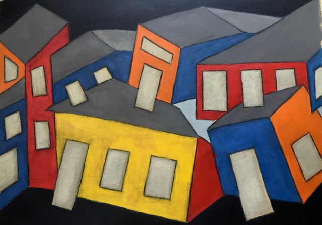 Homage to La Placita    Acrylic on Watercolor Paper 18X24in