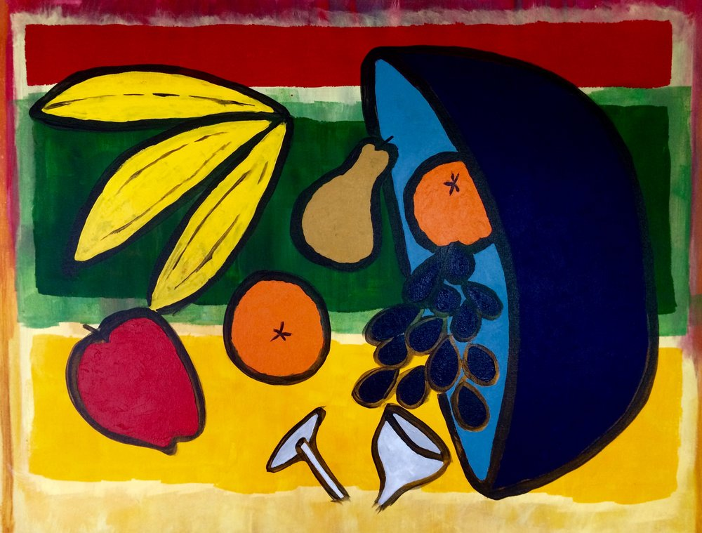 Not So Still Life    Acrylic on Canvas  18X24in