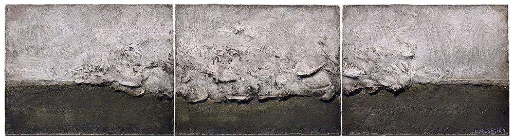 """Tríptico matérico / Matter triptych"""