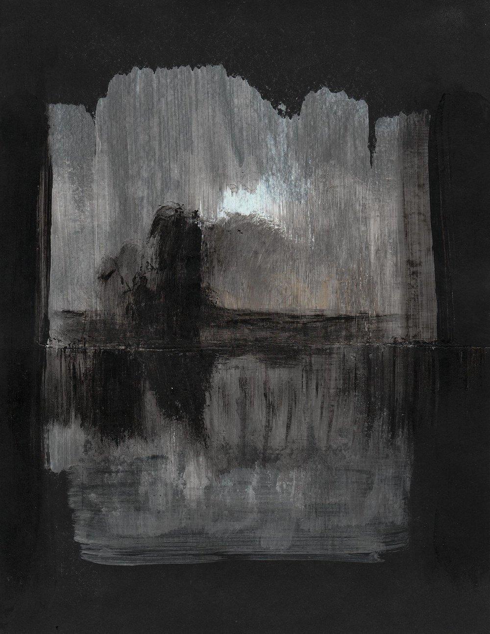 """Paisaje sobre negro / Landscape on black"""