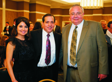 Carmen Campos, Dr. Roger Campos (Past President of GSA HDA), Dr. John Schmitz (President of the The 2011-2012 Current GSA HDA Officers San Antonio District Dental Society).