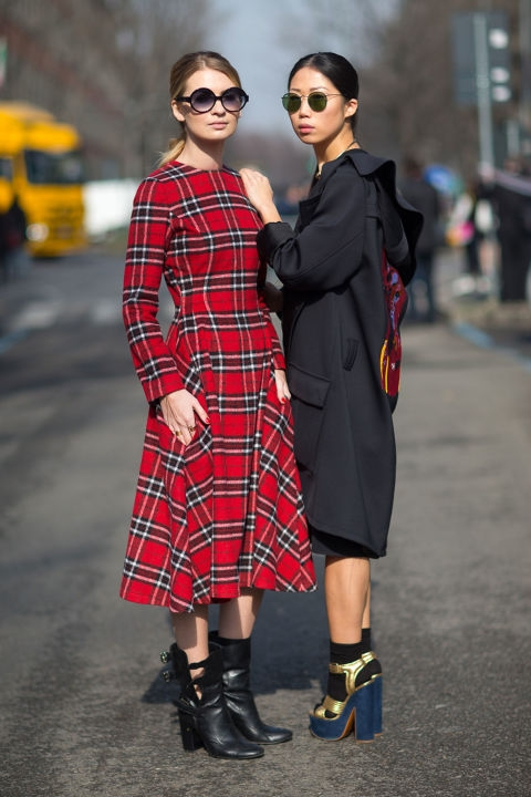 And finally - tartan, always a solid cold weather option