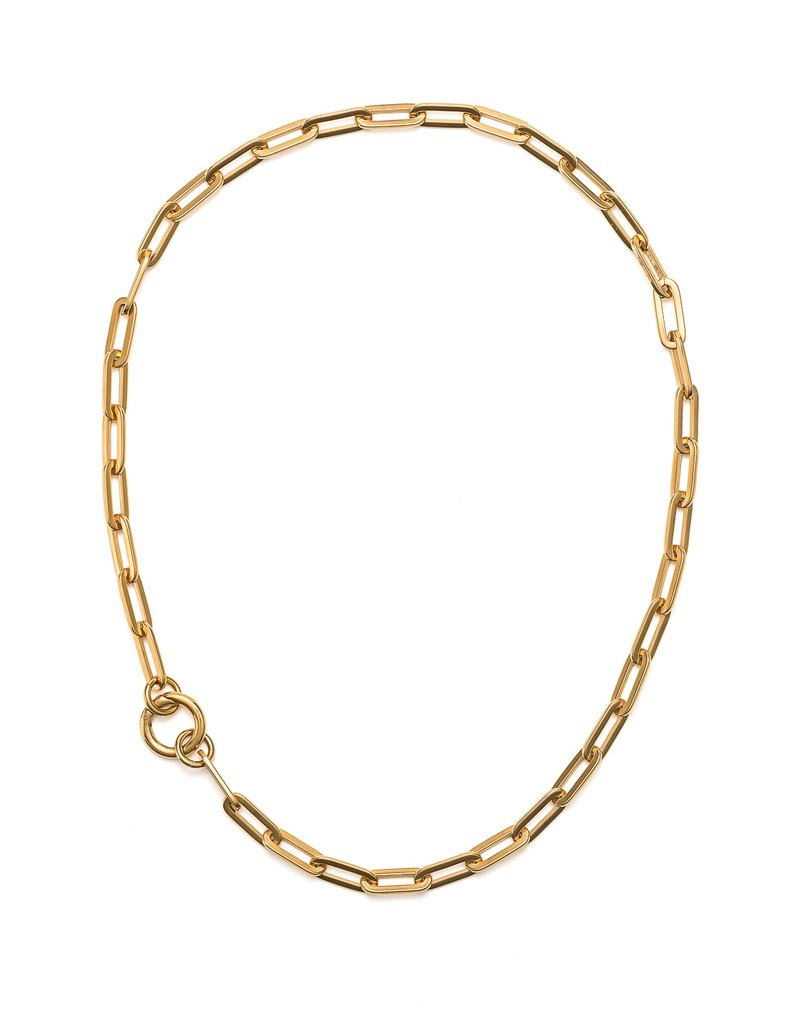 Cathy Pope Long Loop Necklace in Gold