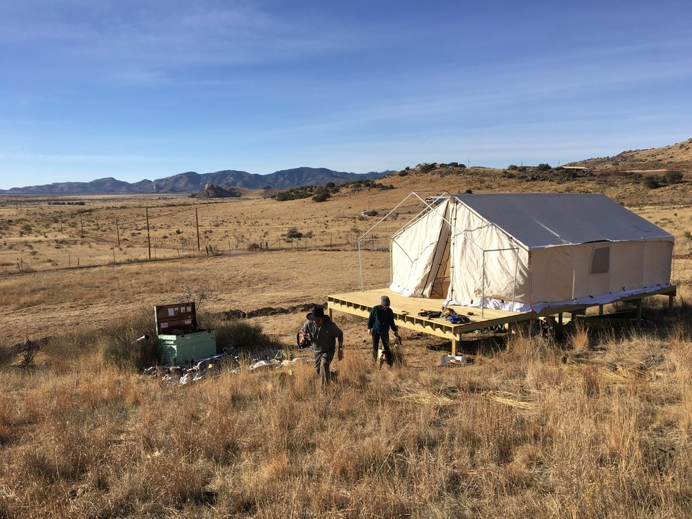 The tent is finally up! Thanks to Promit and Tatanka for the help raising it! Now, hopefully, it doesn't blow away.