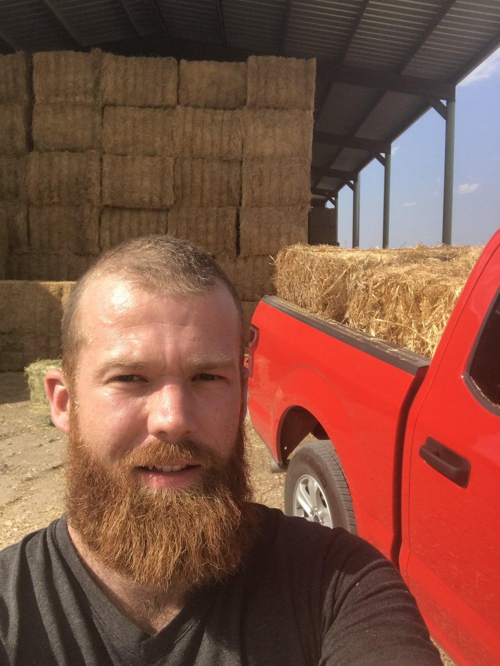 Picking up my straw bales in Balmorhea.